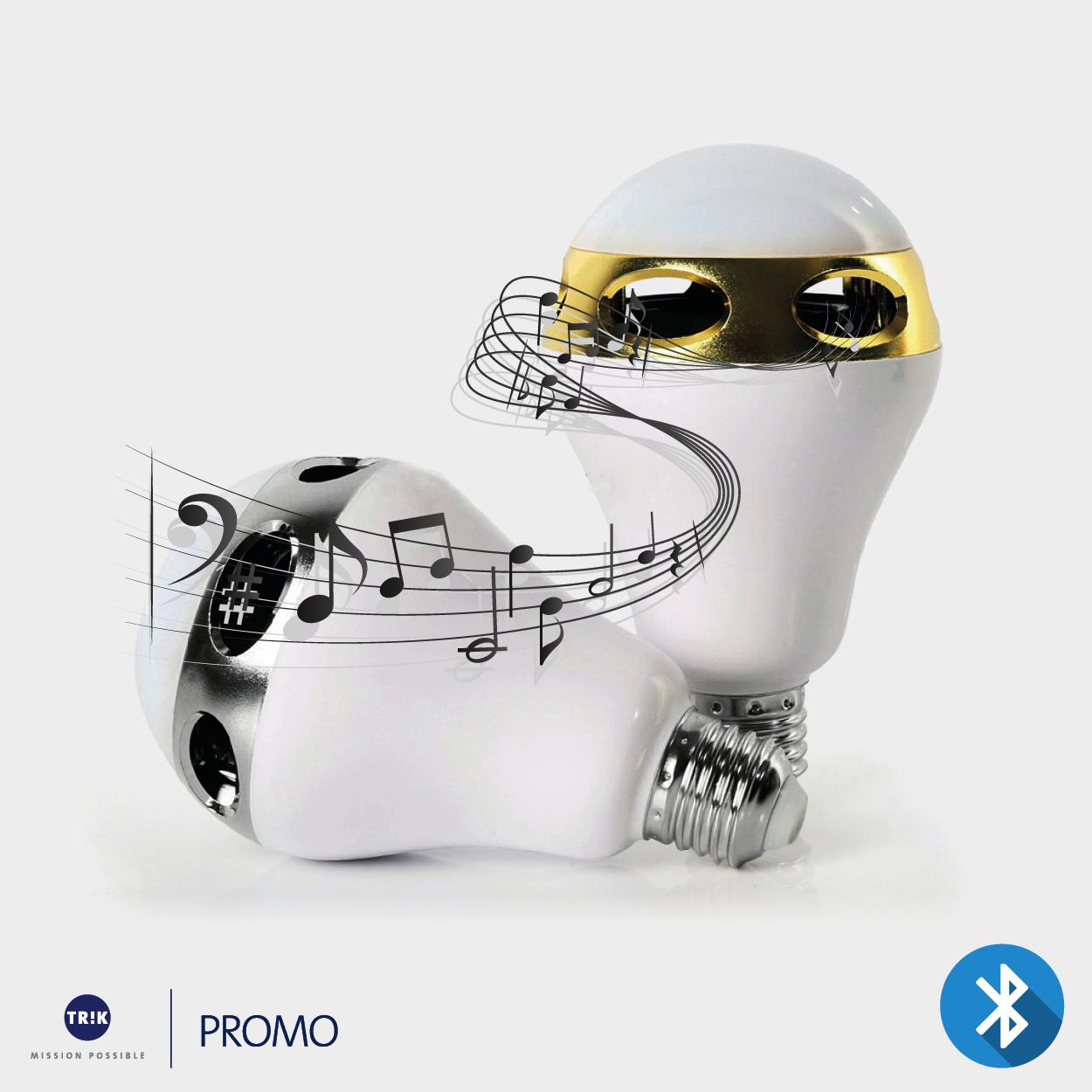LED Lampe mit Bluetooth Lautsprecher – TRIK – Ihr Spezialist für Werbeartikel ...